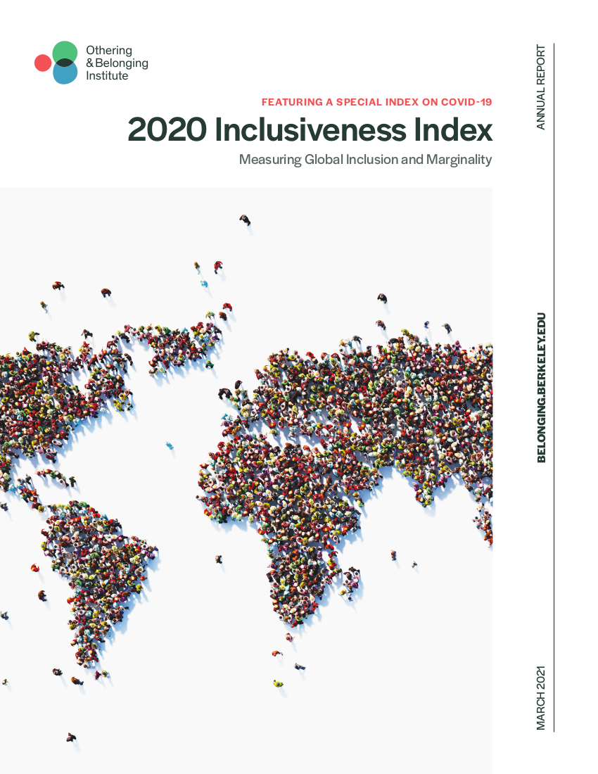 cover of the 2020 Inclusiveness Index report