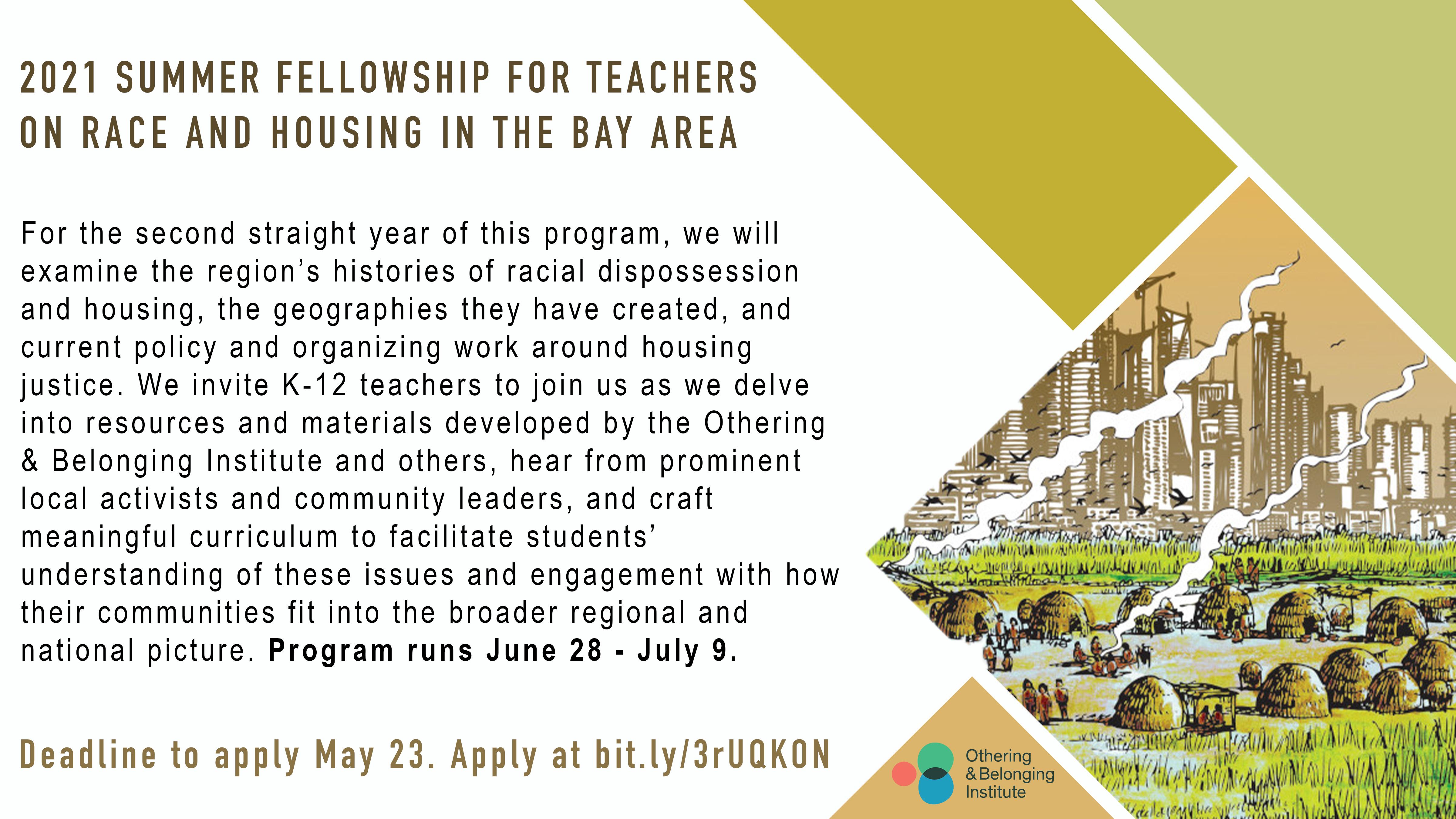 Promo card for our 2021 summer fellowship for teachers