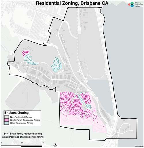 Zoning map of Brisbane