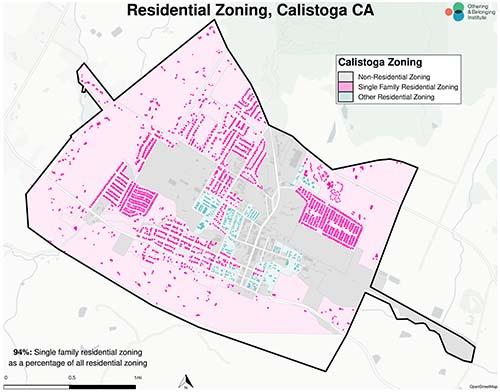 Zoning map of Calistoga