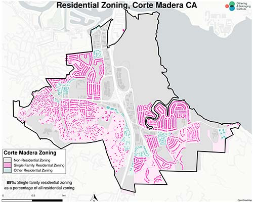 Zoning map of Corte Madera