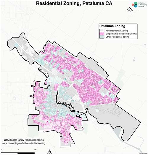 Zoning map of Petaluma