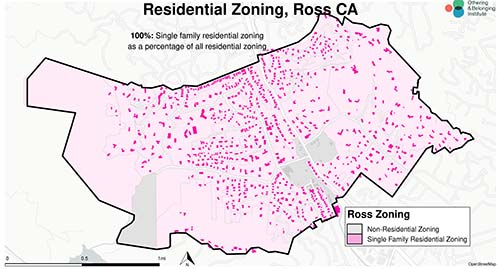 Zoning map of Ross