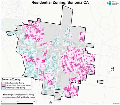 Zoning map of Sonoma
