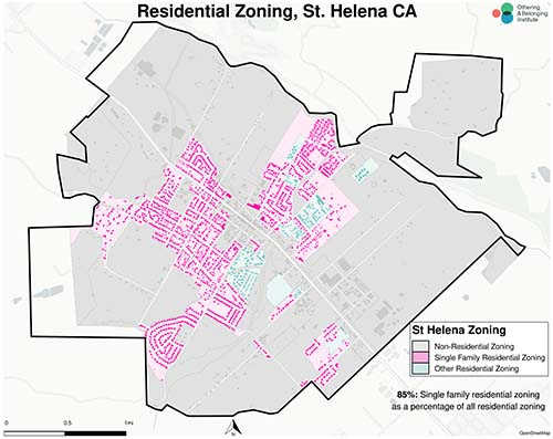 Zoning map of St. Helena