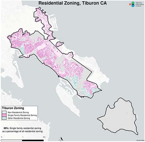 Zoning map of Tiburon