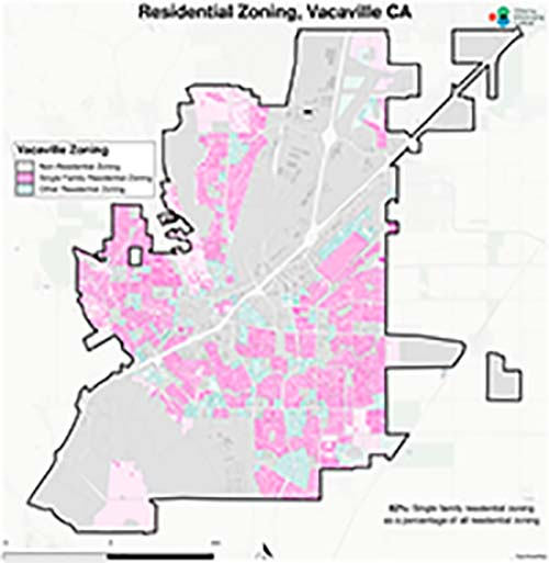 Zoning map of Vacaville