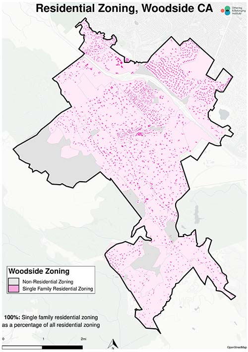 Zoning map of Woodside