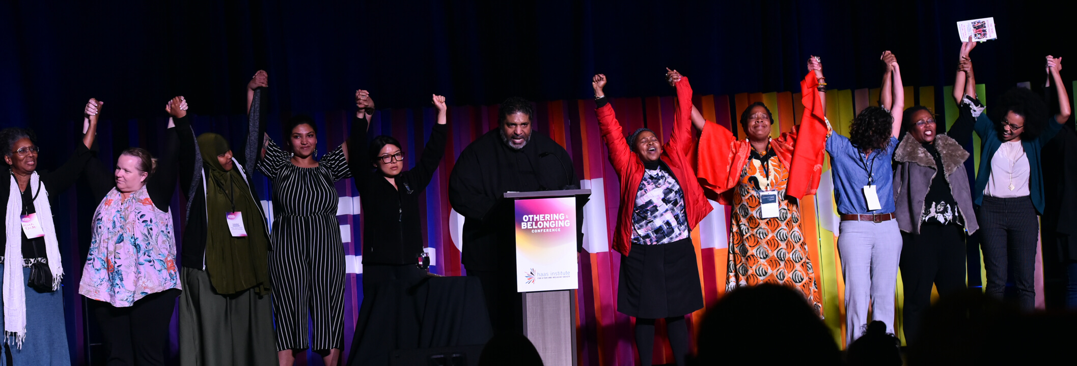 "Rev. William Barber II closes out the 2019 Othering & Belonging Conference with a call to the stage of all who have experienced being treated as ""other"" and and a call of action for all who want to move forward together towards belonging."