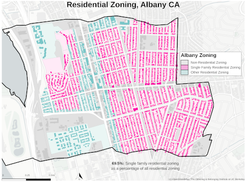 Zoning map of Albany thumbnail