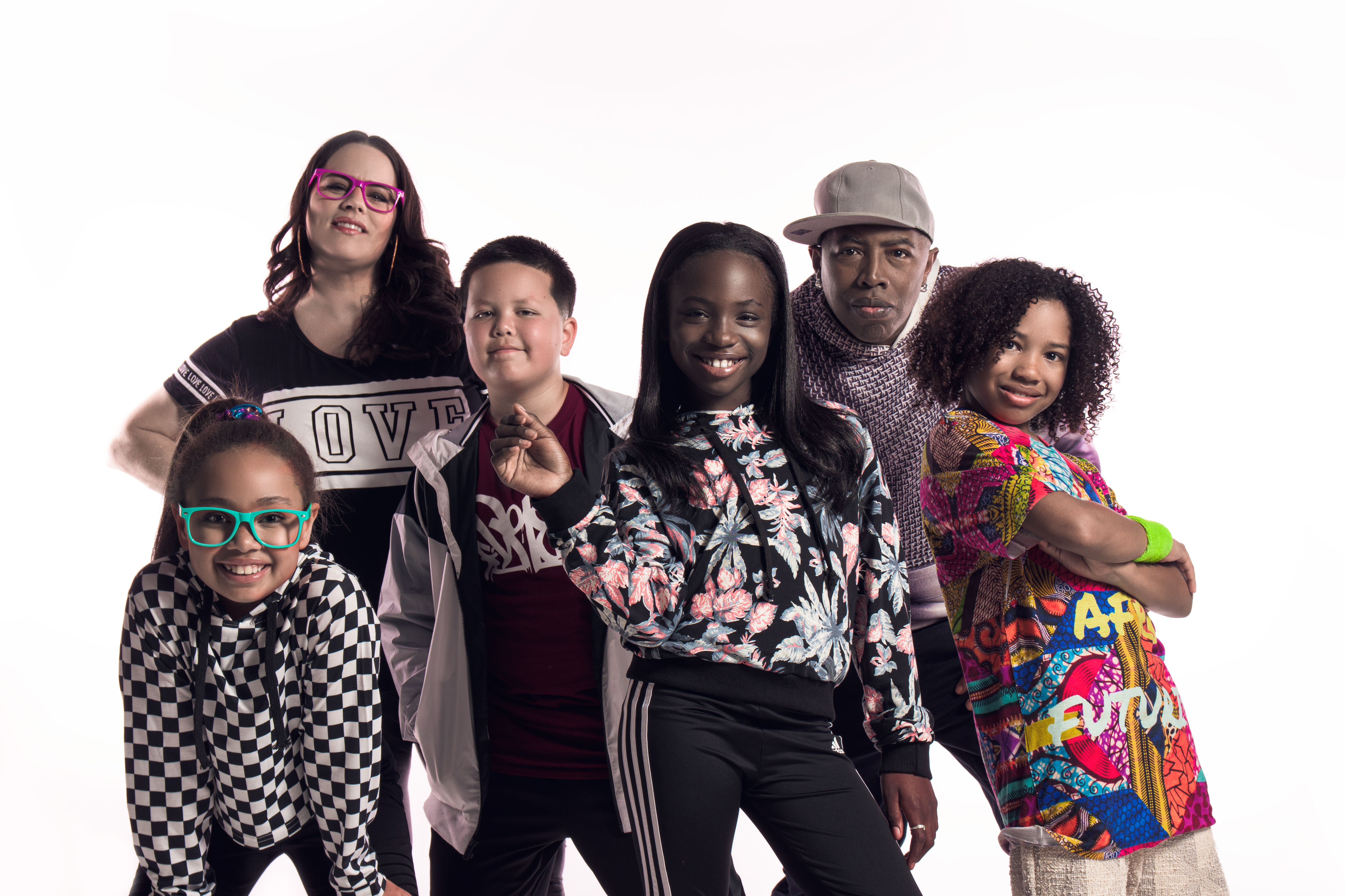 Members of the Alphabet Rockers pose in this photo.
