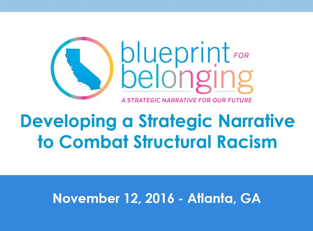 Facing Race 2016 - BluePrint for Belonging Presentation