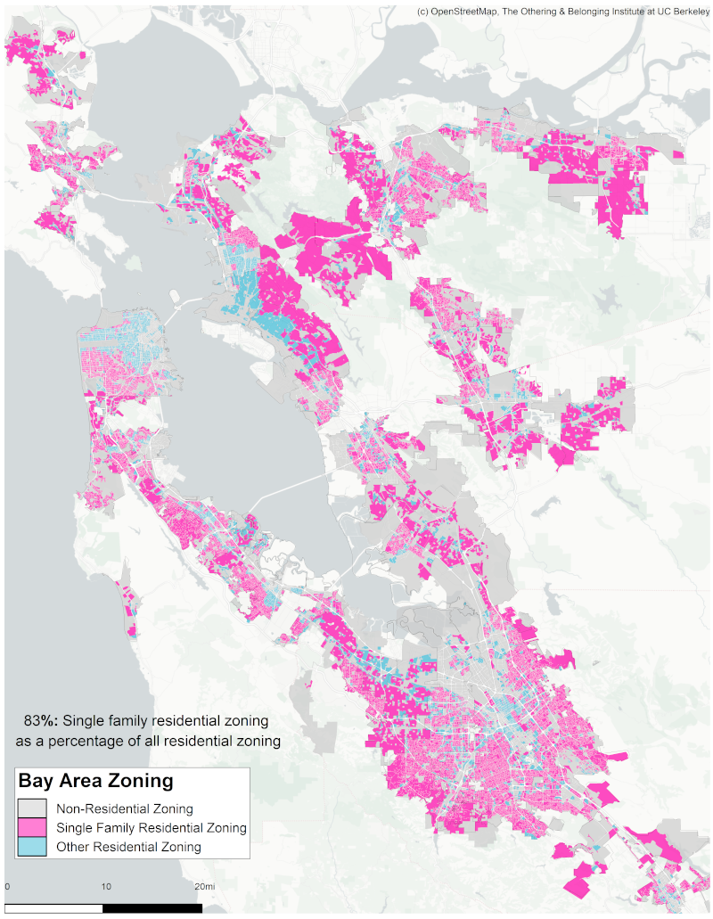 Zoning map of the Bay Area