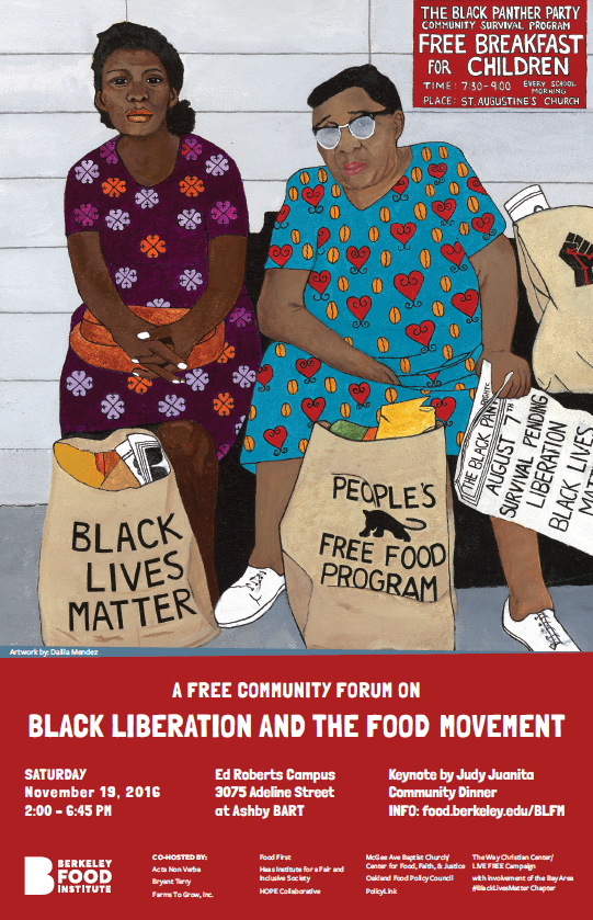 Black Liberation and the Food Movement Flyer