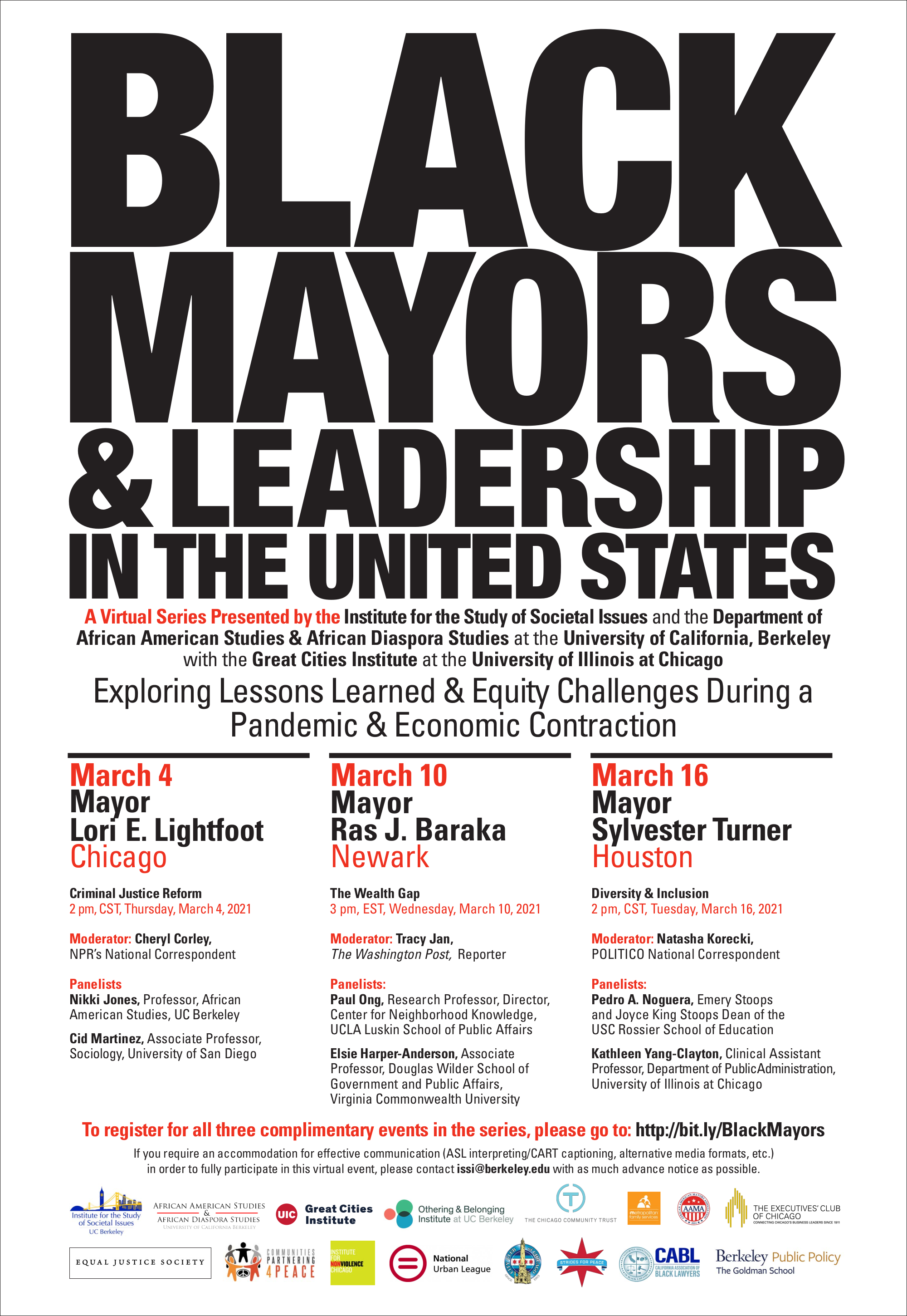 Black Mayor Series Flier. It says exactly what is written underneath the image