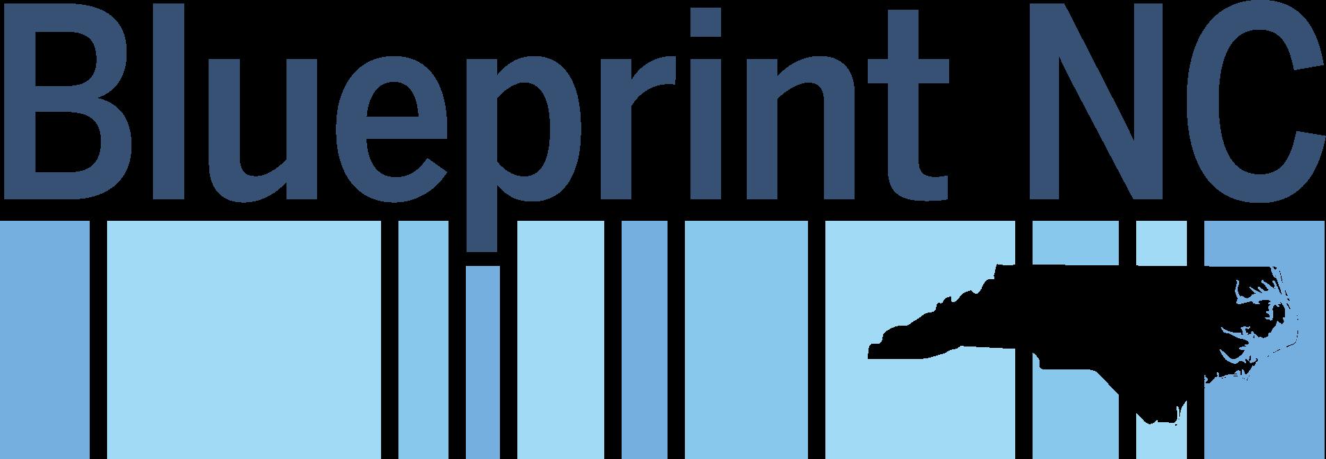"Blue Logo says ""Blueprint NC"""