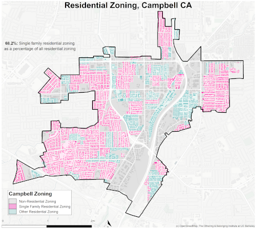 zoning map of Campbell