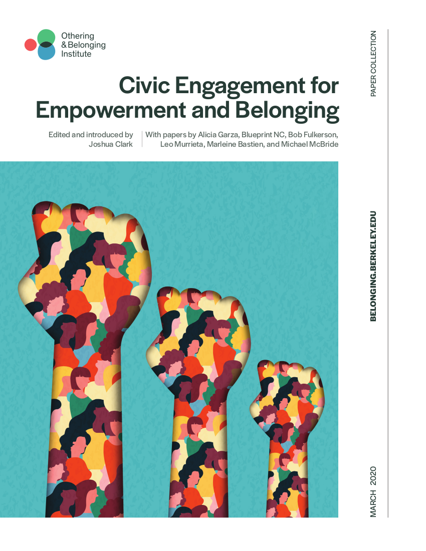 Cover of the Civic Engagement paper collection