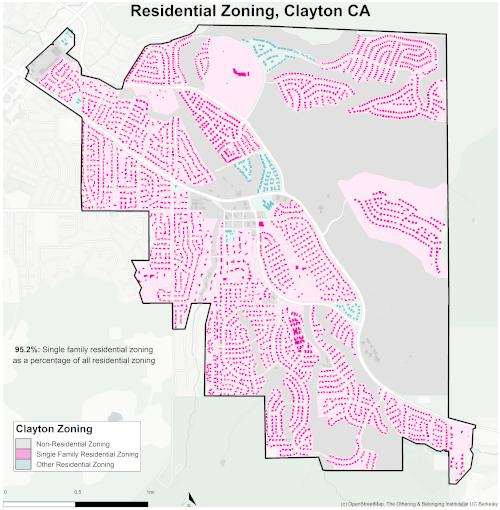 Zoning map of Clayton