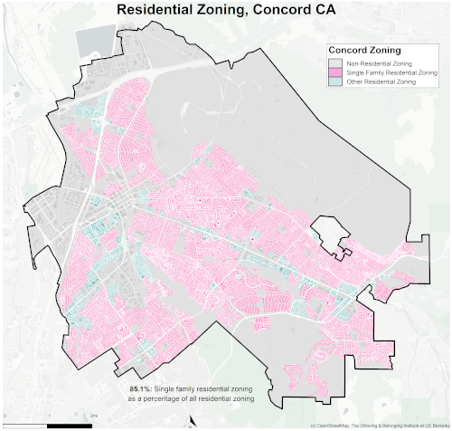 zoning map of Concord