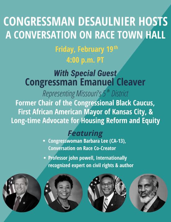 Congressman Desaulnier Hosts a Conversation on Race Town Hall