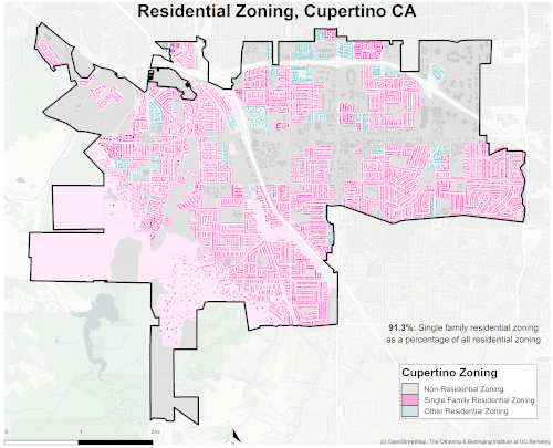 Zoning map of Cupertino