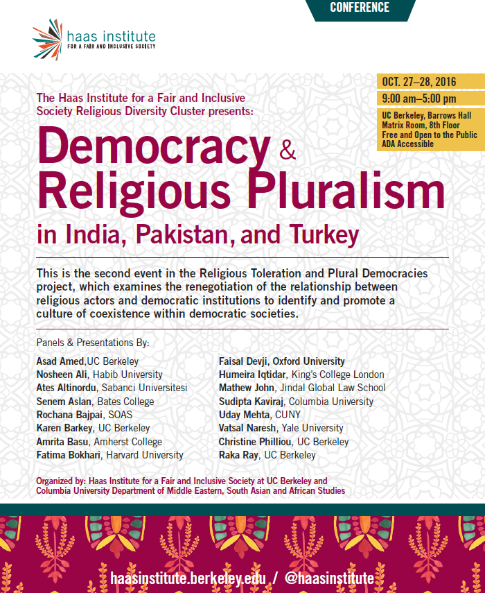 Democracy and Religious Pluralism Conference