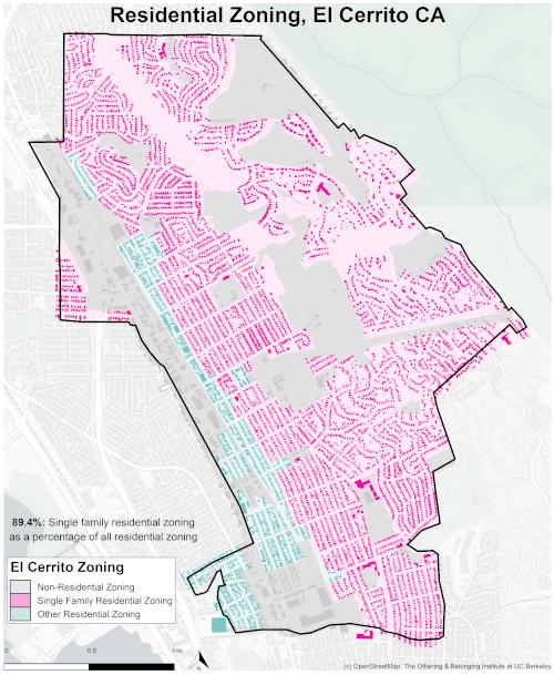 Zoning map of El Cerrito