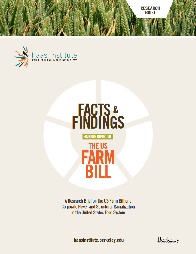 Cover of the farm bill's facts and findings supplement