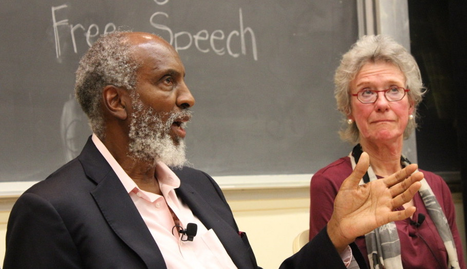 john powell speaks during a faculty panel on free speech