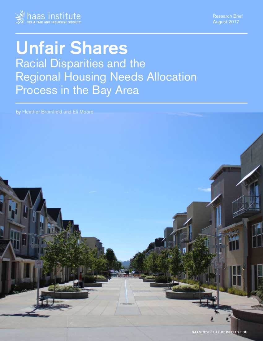 Cover of Unfair Shares report
