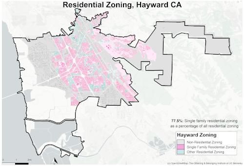 zoning map of Hayward