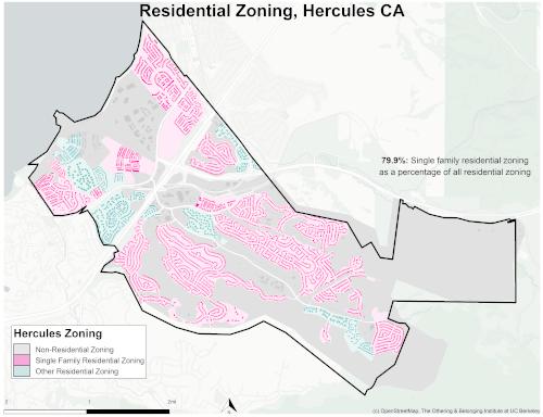 Zoning map of Hercules