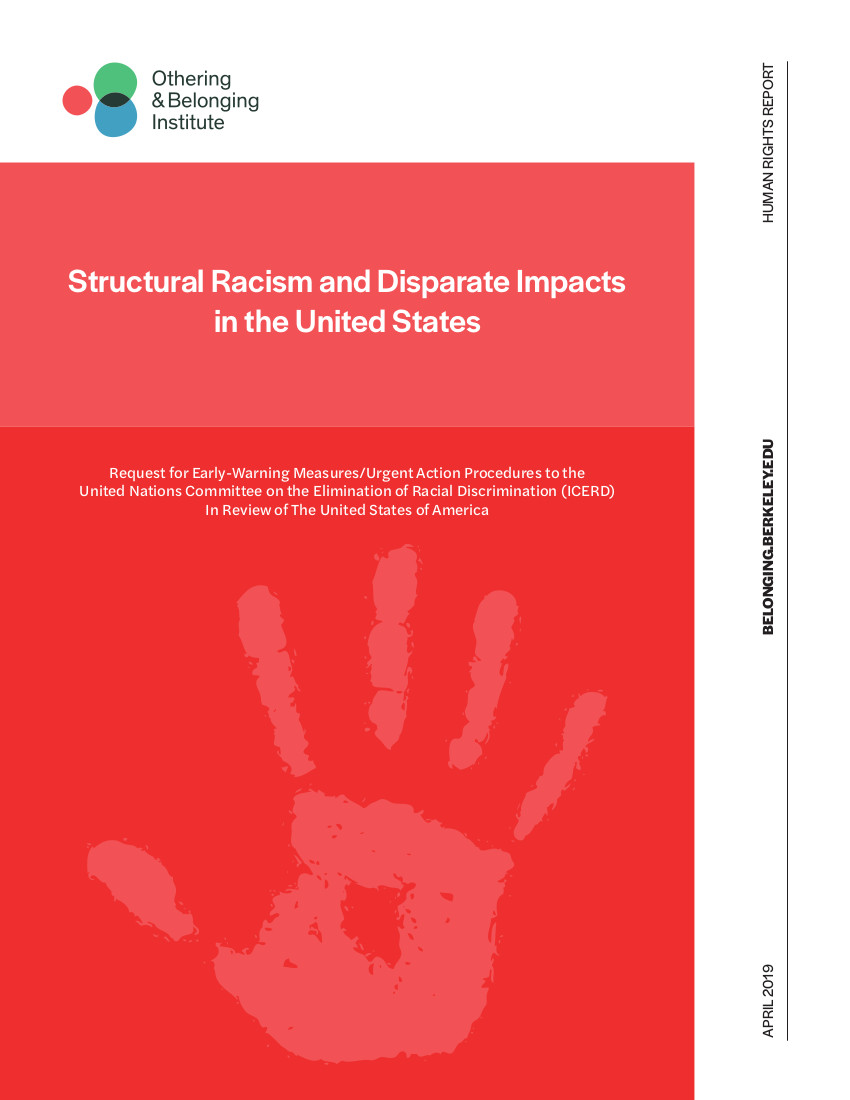 cover page of the icerd report