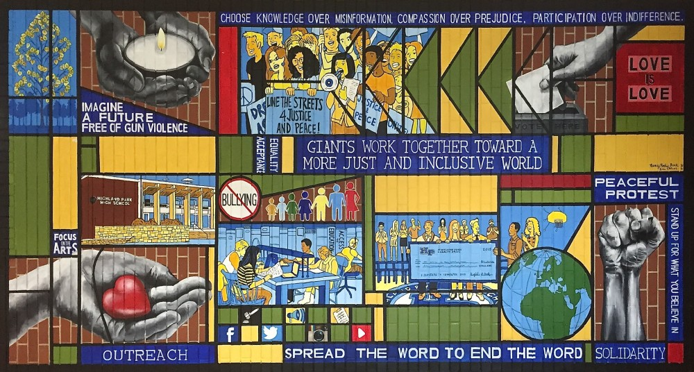 Social Justice mural by Nancy Pochis