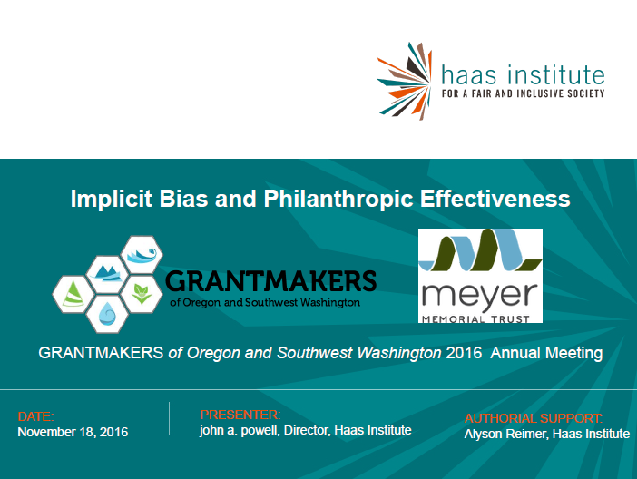 Implicit Bias and Philanthropic Effectiveness