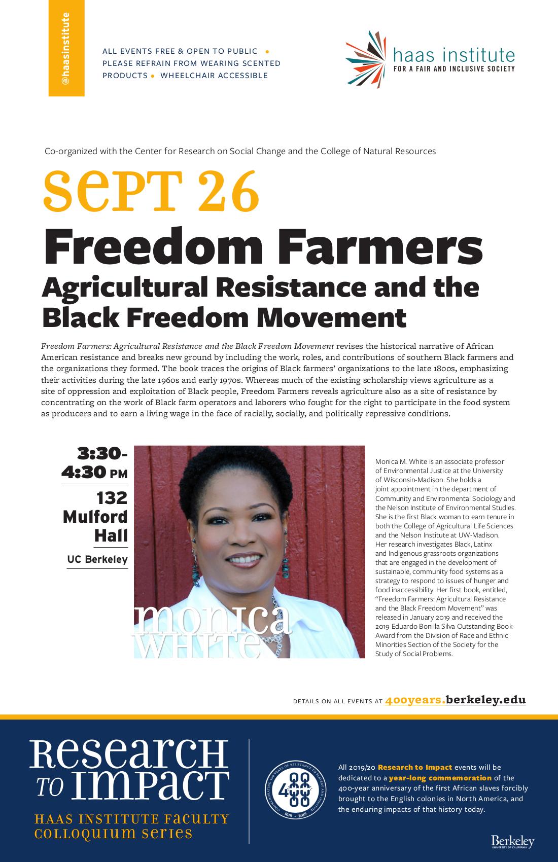 Monica White event flier