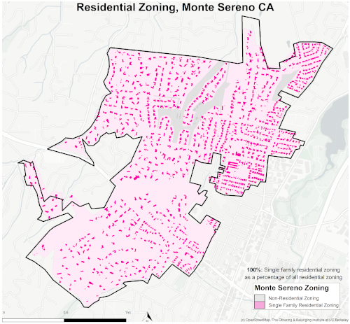 zoning map of Monte Sereno