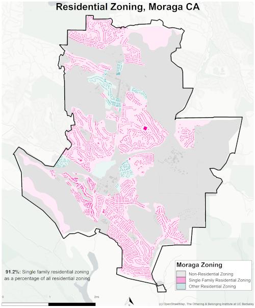zoning map of Moraga