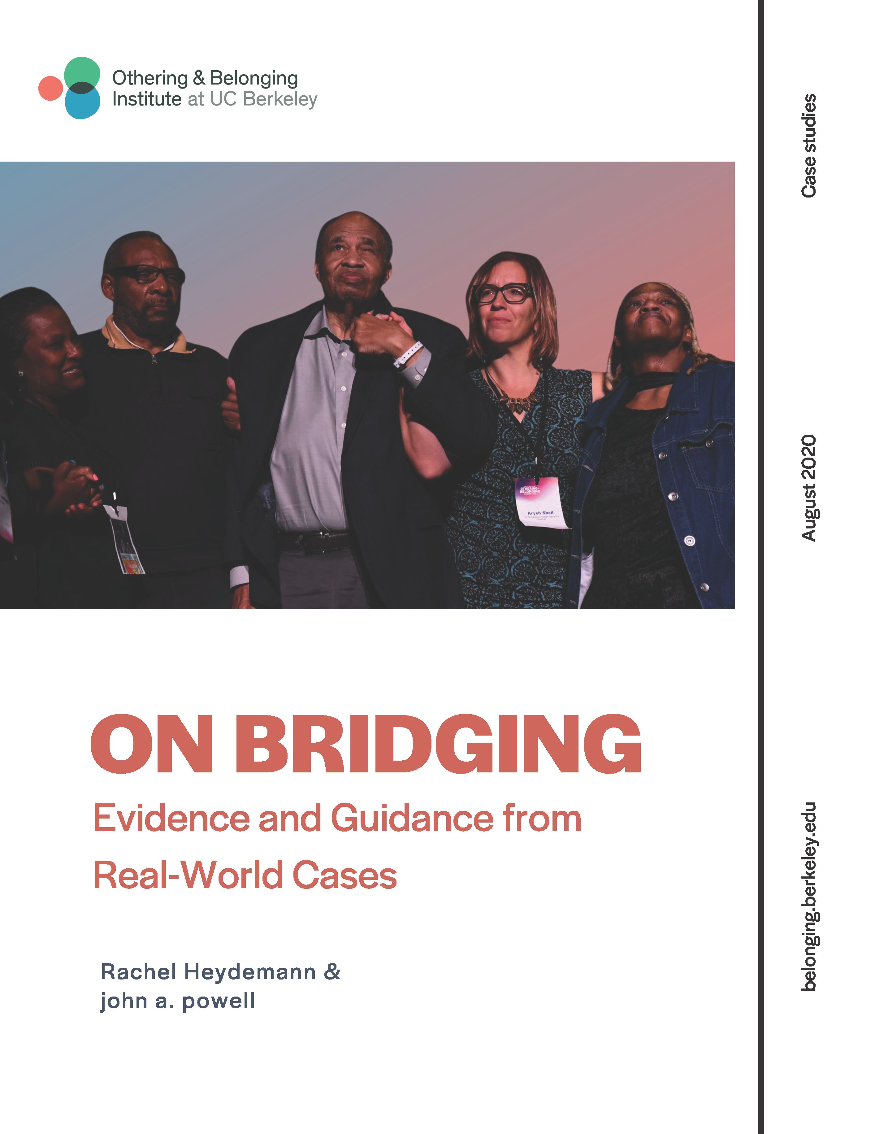On bridging report cover page