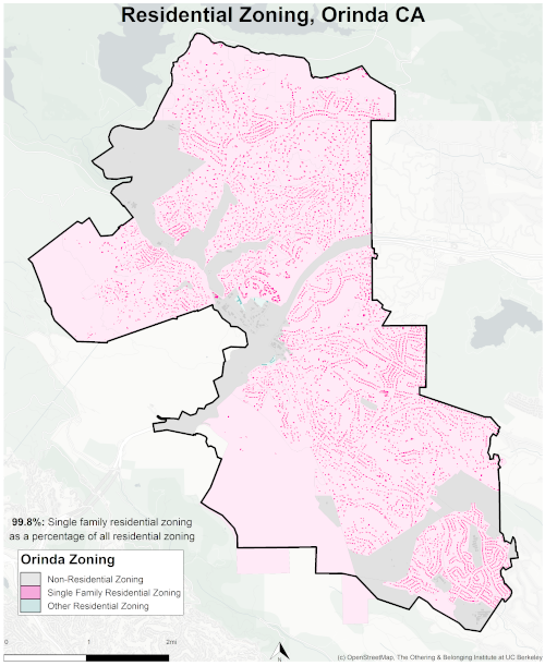 zoning map of Orinda