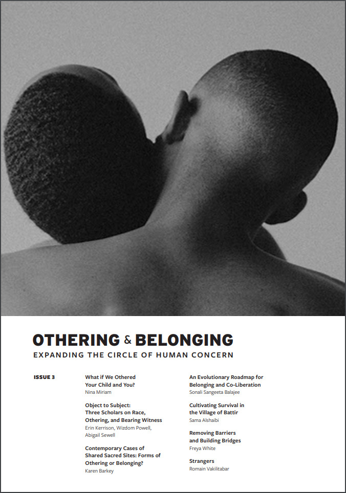 The cover of issue three of the Othering and Belonging journal
