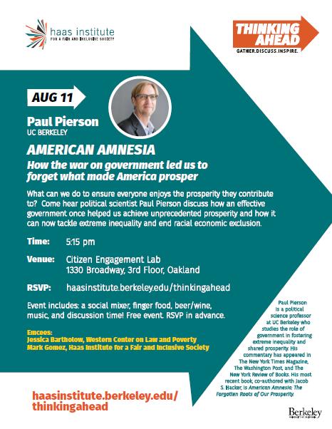 Paul Pierson Thinking Ahead Flyer