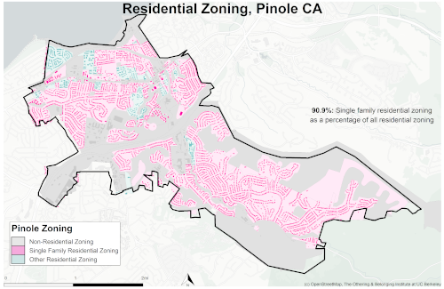 zoning map of Pinole