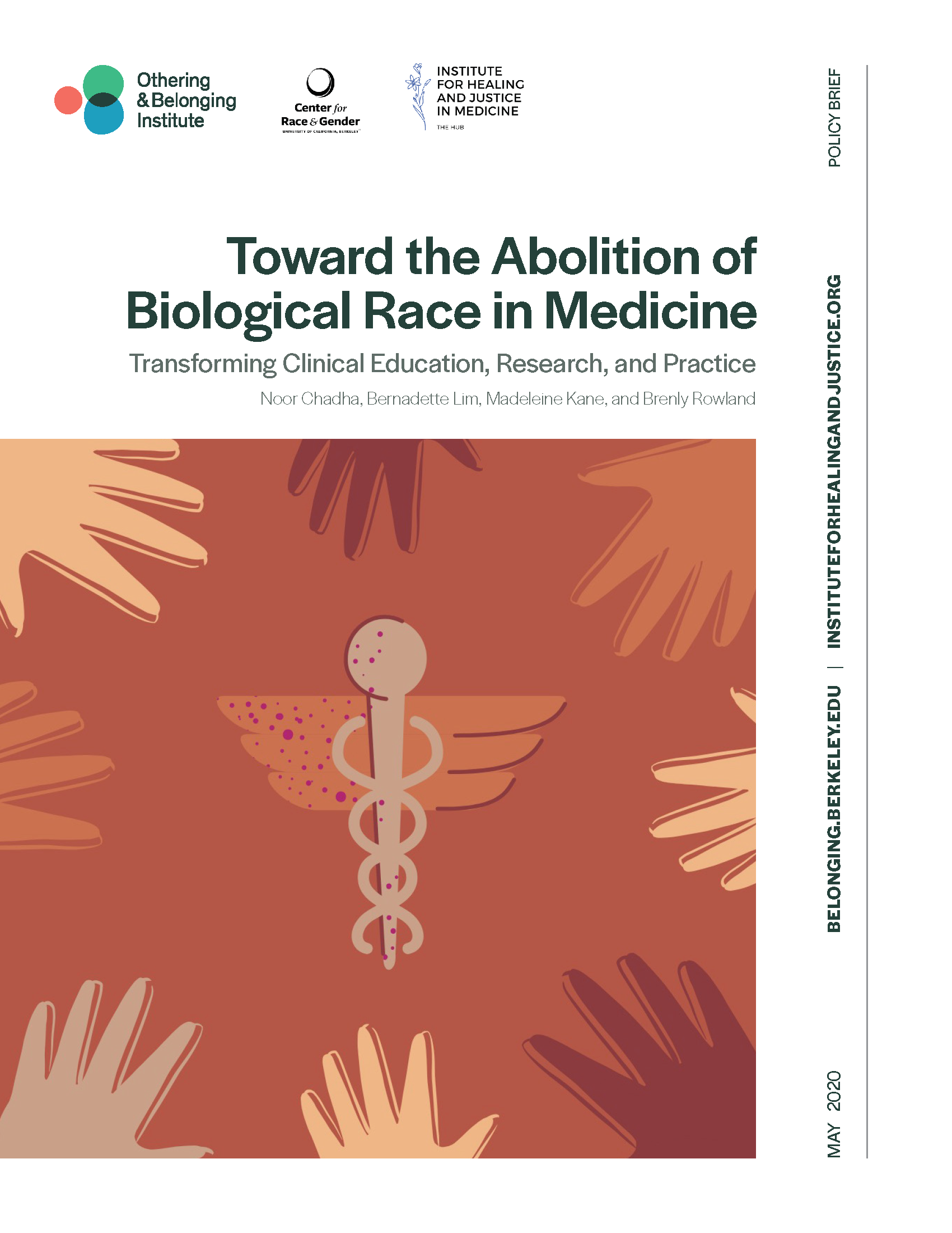 cover of the race in medicine report