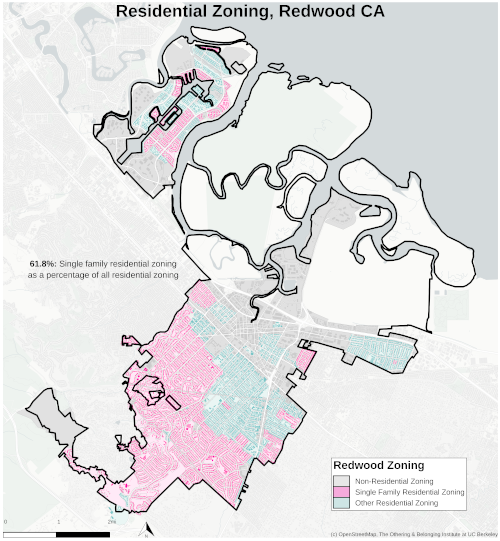 Zoning map of Redwood City thumbnail