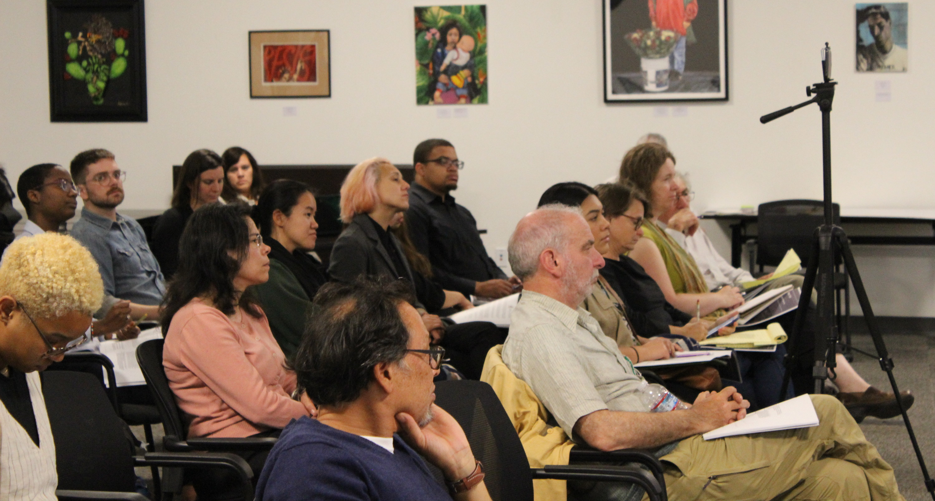 Audience members look at the speakers during a Rent Control brief presentation on Sept. 19