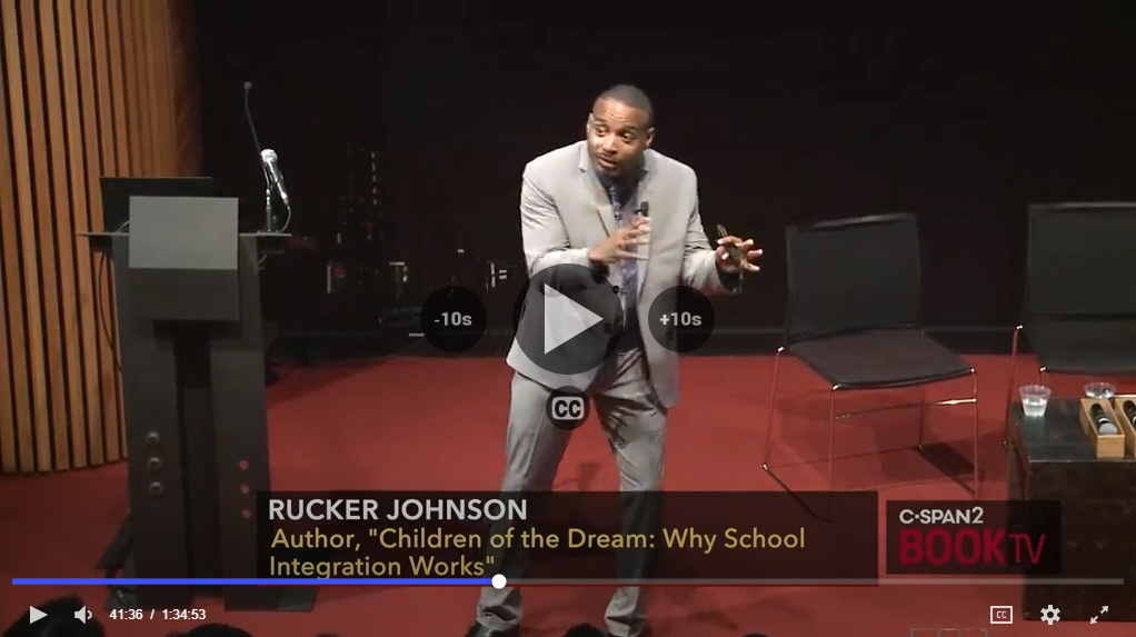 An image grab from Rucker Johnson's book talk hosted by C-Span 2