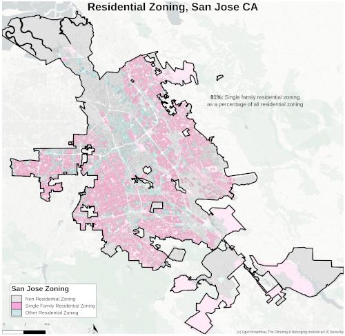 Zoning map of San Jose thumbnail