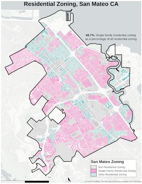 Zoning map of San Mateo